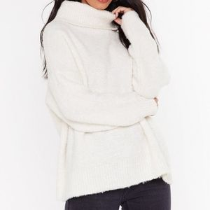 Oversize Up the Competition Turtleneck Sweater